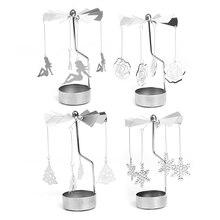 Rotary Spinning Tealight Candle Metal Tea light Holder Carousel Home Decor Christmas Wedding Gift