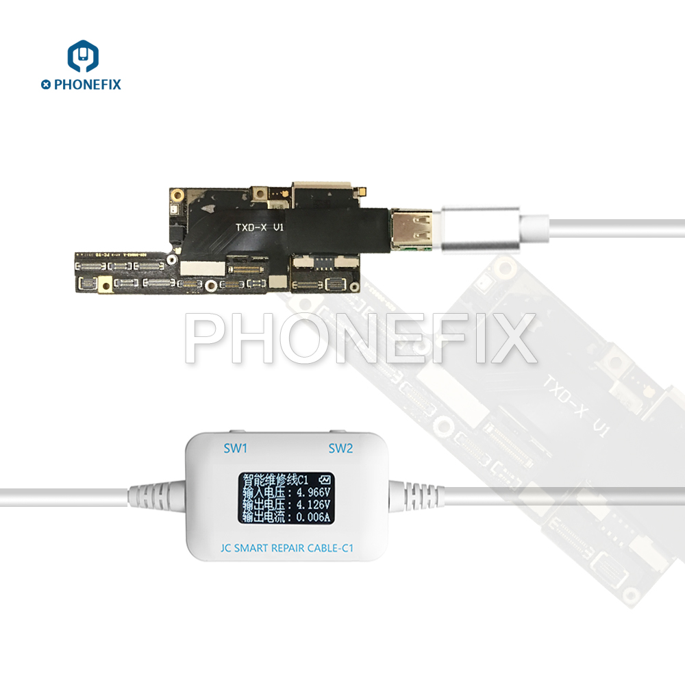 PHONEFIX JC C1 Smart Repair Box OLED Screen Test Cable Charge Boot Brush Detect Failure Motherboard