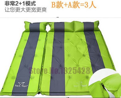 3 person automatic inflatable mattress self inflating moisture-proof pad outdoor camping tent BBQ cushion fishing beach mat 2 person automatic inflatable cushion inflating mattress moisture proof cushion beach fishing hiking travel outdoor camping mat