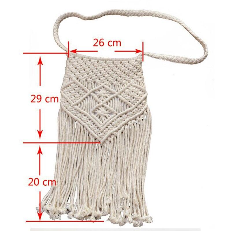 Handmade Rope Woven Tassel Bag 3