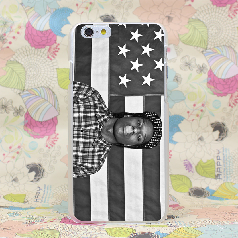 873HJ Rocky Asap Rocky USA Flag Hard Transparent Case Cover for iPhone 4 4s 5 5s SE 5C 6 6s Plus 7 7 Plus