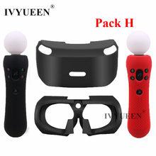 IVYUEEN-funda de silicona para Sony PlayStation VR, gafas protectoras para auriculares, funda de silicona con PSVR Move Motion Controller Skin