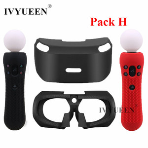 Image 1 - IVYUEEN Silicone Cover for Sony PlayStation VR Glasses Protective Headset Silicone Case with PSVR Move Motion Controller Skin