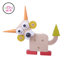 creative toys for children Cute pet club Educational High Quality Wooden Toys Baby Children Fingers Flexible Training