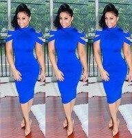 Nouveau jolie image chaude femmes robe d'été solide élégant sexy club robe gaine robes femininos 5280