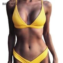 BUETYART  Sexy Bikini Push up Summer Beach Bathing Suit Women Swimsuit Swimwear Padded Beachwear Set