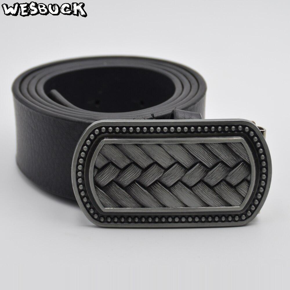 Buckles & Hooks Mens Blank Belt Buckles Classic Simply Buckles Suit 4cm Width Belts Fivela Cowboy Clasp Western Belts Ceinture Jeans Accessories