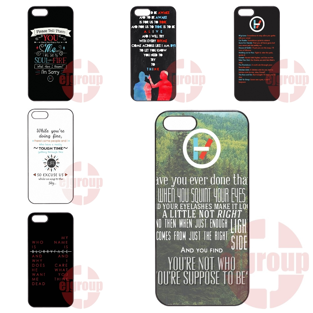 Lyrics Twenty One Pilots Cell Phone Case For Galaxy Y S5360 Note 3 Neo Ace Nxt Plus On5 On7 On8 2016 For Amazon Fire