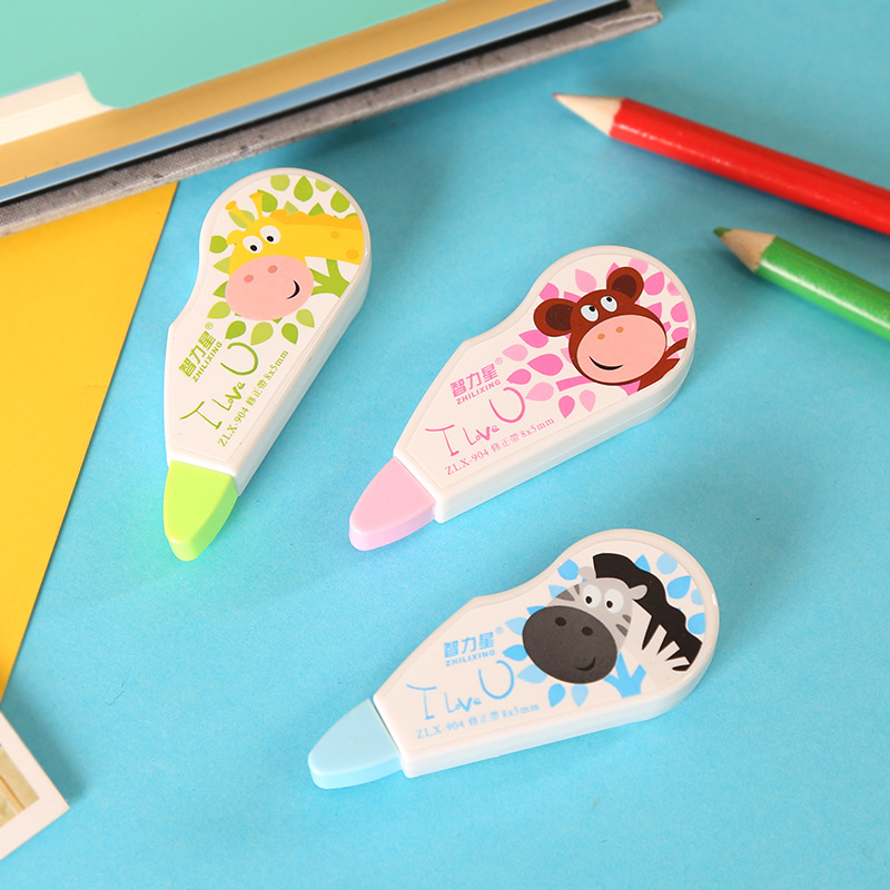 24pc/lot Cute Cartoon Creative Animal Shape Correction Tape / Error Word Correction / Office Student Goods/8m