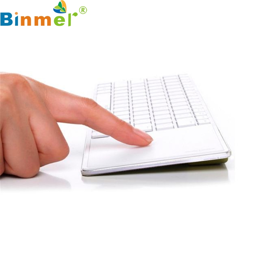 Binmer Mecall Details about Bluetooth 3.0 Ultra Slim Mini Keyboard Touch Pad Mouse for iOS Windows Android