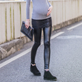 Autumn Maternity Pants Women Adjustable Cotton Leather Leggings Maternity Lace Pants Warm Pregnancy Pattern Trousers