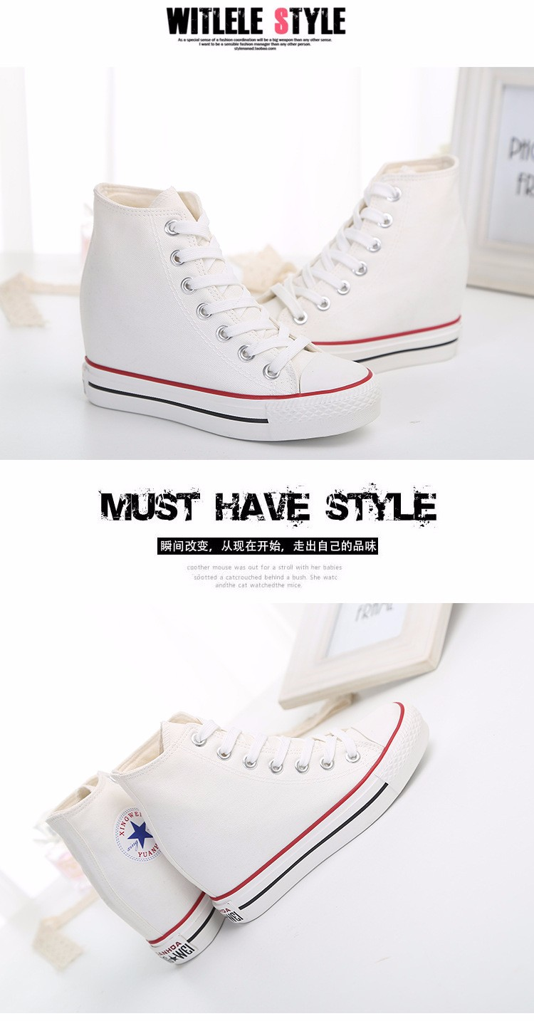 KUYUPP High Top Canvas Women Shoes Espadrilles Spring Autumn Womens Wedges Shoes Lace Up Casual Shoes For Female Sapatilha YD120 (20)