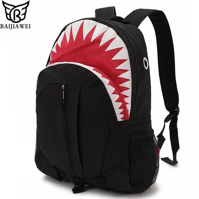 BAIJIAWEI Hot Sell 3D Cartoon Shark Shape Kids School Bags for Boys Girls Backpacks Primary Students Backpack Children Rucksack