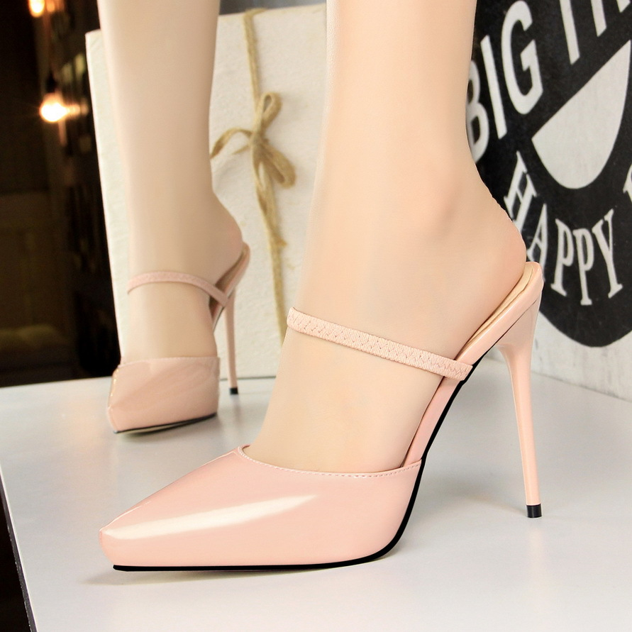 Mules shoes high heels womens shoes pumps wedding shoes Pointed Toe Party platform luxury designers mary jane zapatos de mujer in Women 39 s Pumps from Shoes