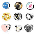 925 Silver Baby Hand Crystal Beads Fit Pandora Original Bracelet Snake Chain Necklace Thread Hole  Heart Bead Charms 2016 Winter