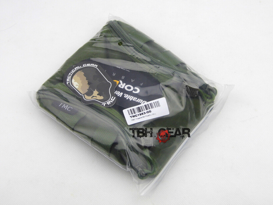 TMC Trauma Kit Pouch Military Army Medical Pouch MOLLE System Olive PU Coating+Free shipping(SKU12050191)