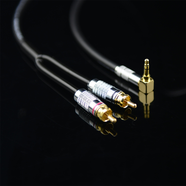 MonsterProlink Standard 100 Audio Cable Stereo 3.5mm to 2 RCA right angle Y cable for MP3 CD DVD PC TV Audiophile cable