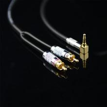 MonsterProlink Standard 100 Audio Kabel Stereo 3,5mm zu 2 RCA rechten winkel Y kabel für MP3 CD DVD PC TV Audiophile kabel