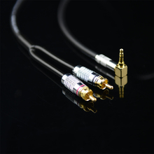 MonsterProlink Standard 100 câble Audio stéréo 3.5mm à 2 RCA à angle droit Y câble pour MP3 CD DVD PC TV câble Audiophile