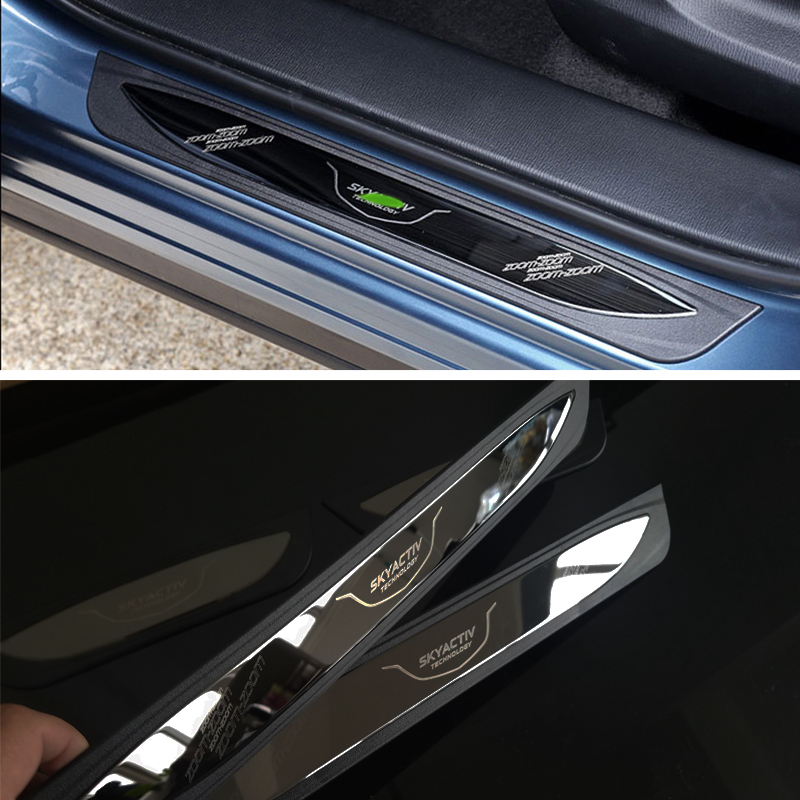 2014 Mazda Cx 5 Interior: Free Shipping ABS And Stainless Steel Scuff Plate Door