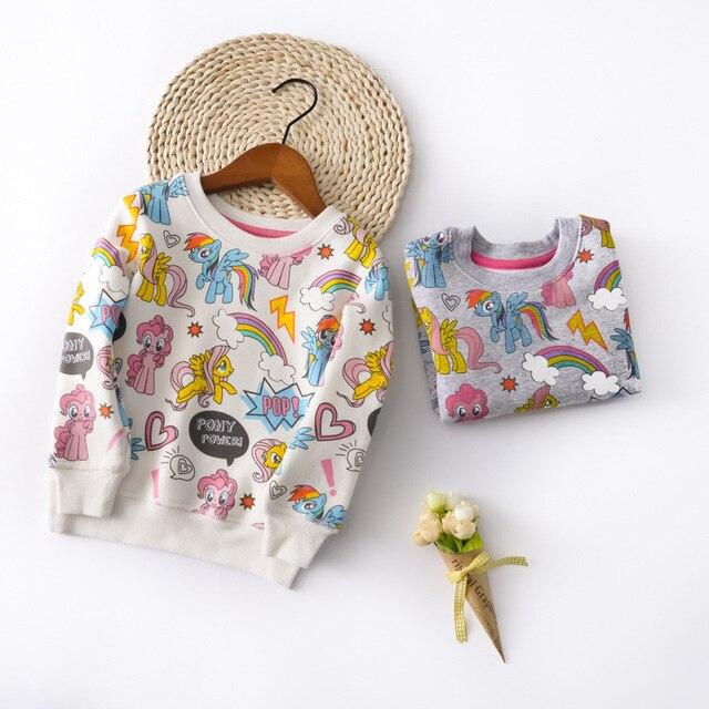 2017 new spring autumn Girls Kids Boys Plus velvet full printed cartoon sweater comfortable cute baby Clothes Children Clothing