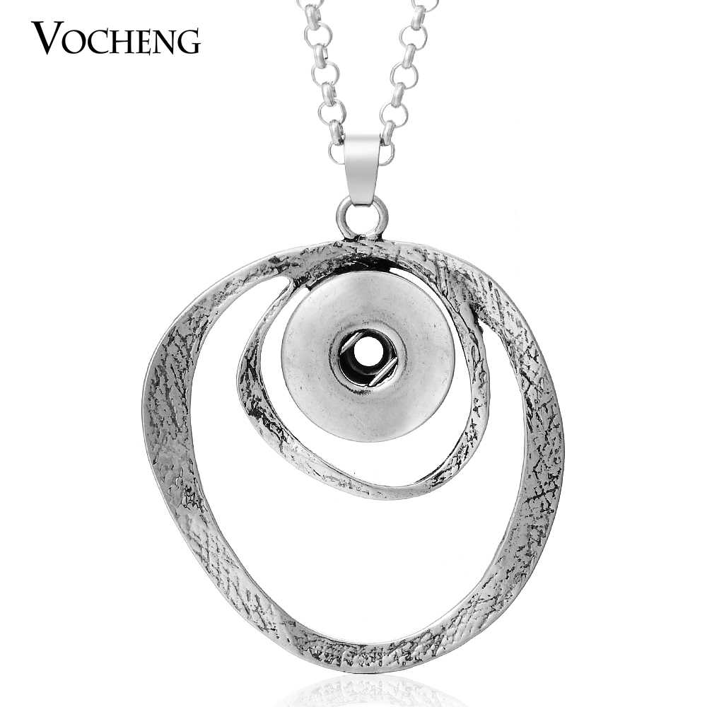 Snaps Jewelry Vocheng Ginger Snap18mm Pendants Necklace with Stainless Steel Chain NN-058