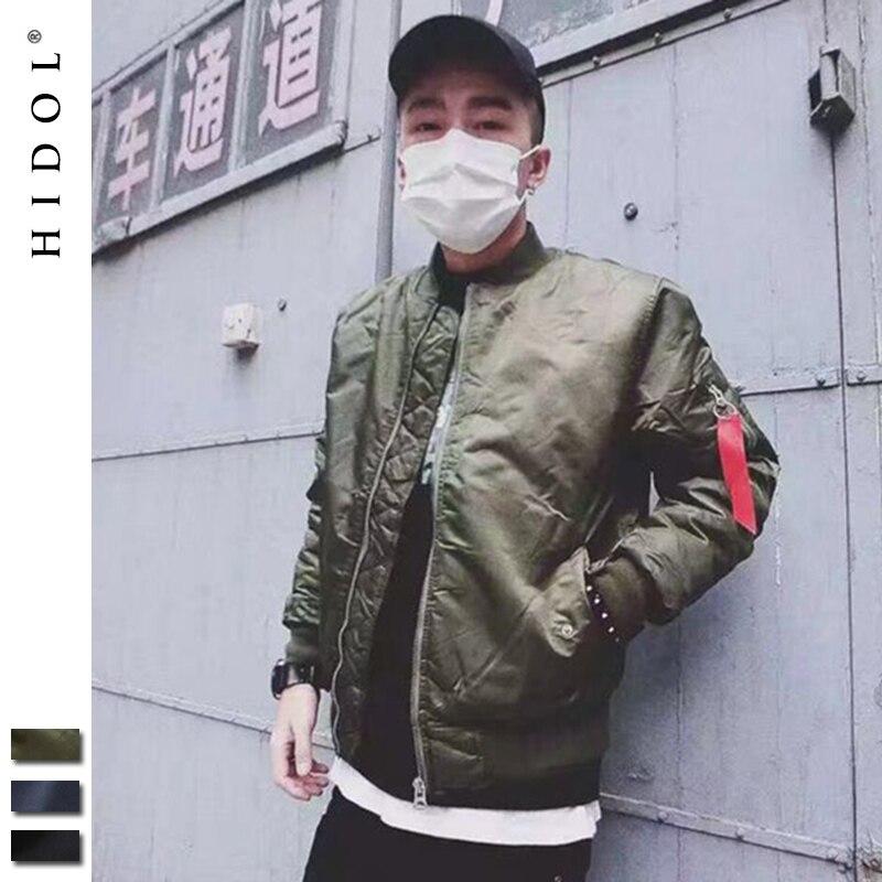 Oversize Military MA1 Bomber Jacket Flight Pilot Air Force Coat Army Green Navy Blue Hip Hop Baseball Brand Clothing Kanye West