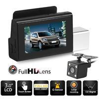 T3 Автомобильный видеорегистратор 3-дюймовый экран Full HD 1080p вращающаяся линза приборная панель камера перезаказ 3 м резиновый держатель АДСО...
