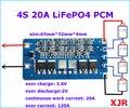 2 PCS/a lot 4S 20A LiFePO4 BMS/PCM/PCB placa de proteção da bateria para 4 Pacotes de 18650 Célula de Bateria lifepo4