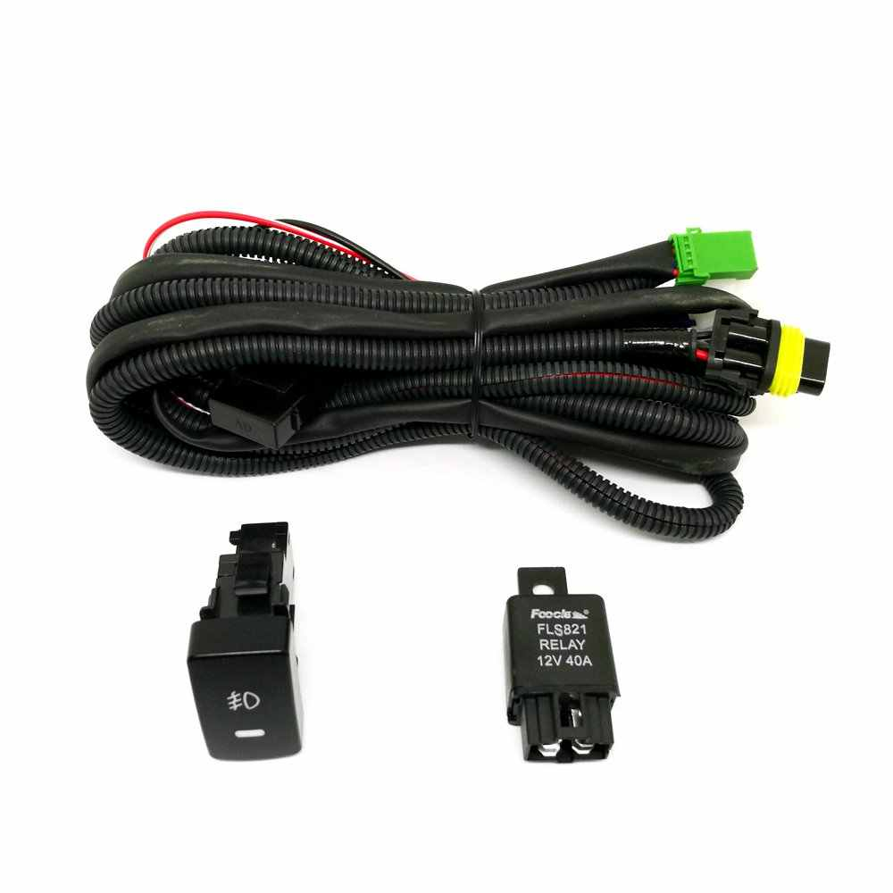 Detail Feedback Questions About Dwcx Wiring Harness Sockets Wire H7 Relay For Fog Light Headlight Drl Head Lamp Ebay Switch H11 Honda Civic 2016 2017 Automotive Add On
