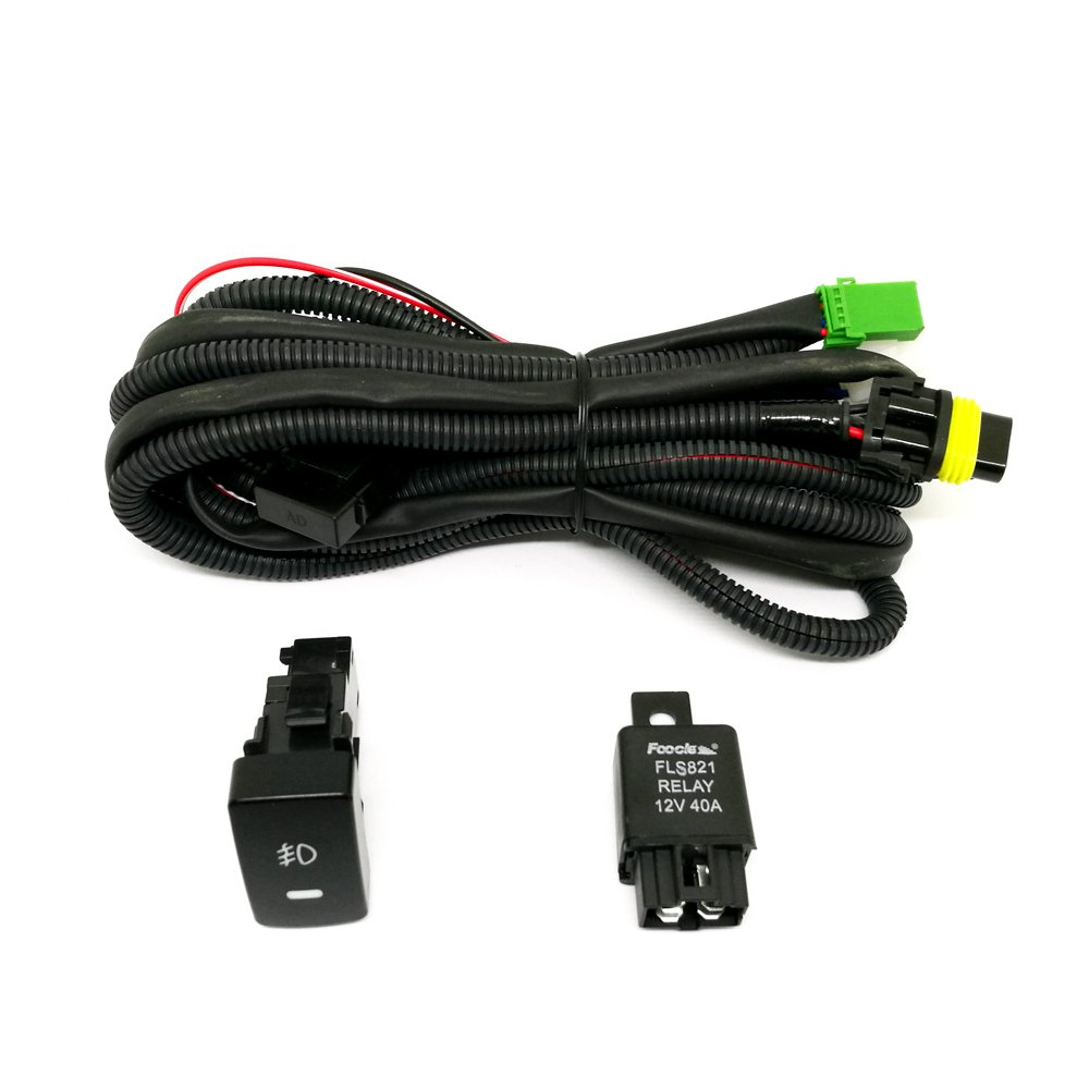 Dreamseek Relay Wiring Harness Switch H11 For Honda Civic