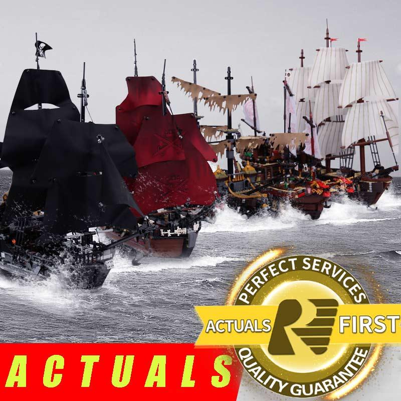 Lepin 16006 16016 Piratas del Caribe 16009 venganza de la Reina anne LegoINGlys 70618 negro perla model building kits bloques