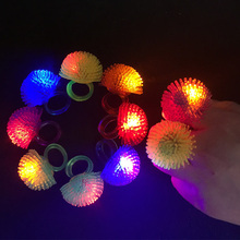 Costume Leds 100pcs/lot Fashion Cute Soft Jelly Led Finger Ring Glow Light Toys For Holiday Party Wedding Christmas Supplies