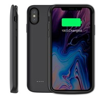 For iphone X Xr Xs XS Max 2018 Battery Case 6000mAh External Charger Power Bank Backup Cover Shell Support wired headset