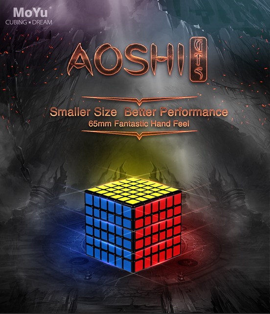 US $22 74 9% OFF|MoYu Aoshi GTS 6x6x6 Speed Cube Stickerless/Black  Professional Challenge 6x6 Magic Cube Puzzle Game for Kid gift Toys GTS  Cubes-in