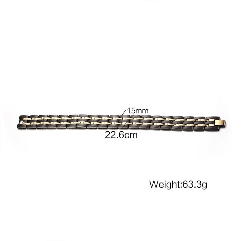 2018 Top Fashion Bracelets & Bangles Men Bracelet Men Healthy Magnetic Bracelet & Plated Energy Stainless Steel Trendy Jewelry