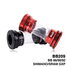 BB209 BB92 BB90 BB86 Press Fit Bottom Brackets for Road Mountain bike Shimano Prowheel 24mm Crankset SRAM GXP 22mm chainset bb install and remove tool set 6061 aluminum alloy bottom bracket taiwan alpha bb86 bb90 bb91 bb92 bb30 bb30a bb94 bb95