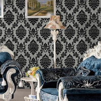 beibehang New crafted non woven wallpaper 3D relief European style velvet wallpaper bedroom warm TV backdrop flocking wallpaper