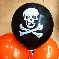 100pcs Lot 8inch Halloween Latex Balloons Halloween Party Decorations Skull Air Latex Balls Spirit Festival Event