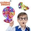 56 pçs/set modelos & toy building designer magnético blocos de construção de plástico diy tijolos crianças aprendizagem & brinquedos educativos
