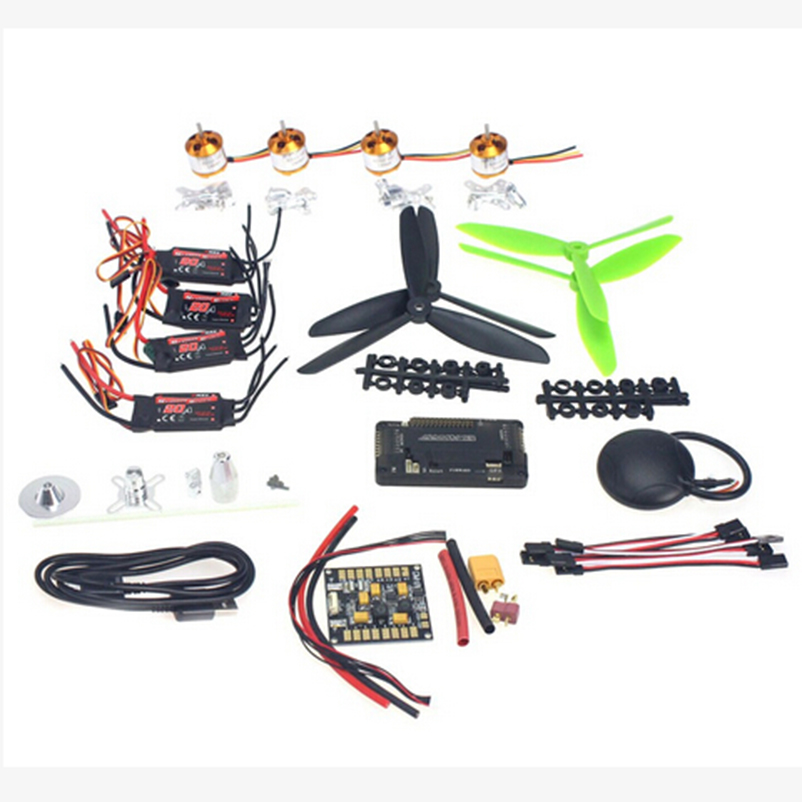 JMT 4-axis GPS Mini Drone Helicopter Parts ARF DIY Kit GPS APM 2.8 Flight Control EMAX 20A ESC Brushless Motor naza m v2 flight control
