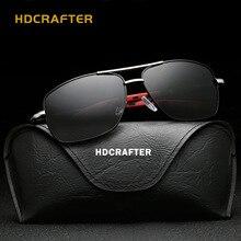 HDCRAFTER luxury retro aviation Polarized Sunglasses Men fashion sun glasses men's sunglasses designer for men shades E012
