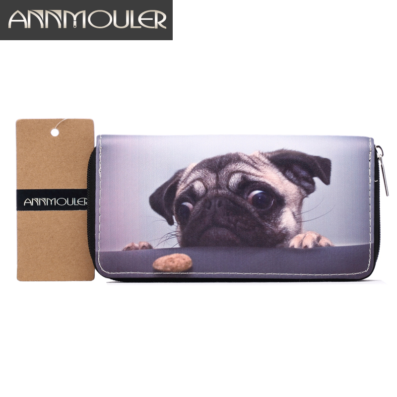 Luxury Brand Women Wallets Pu Leather Wallet Dog Print Long Size Coin Purse Pocket Credit Card Holder Clutch Bag Billfold Wallet