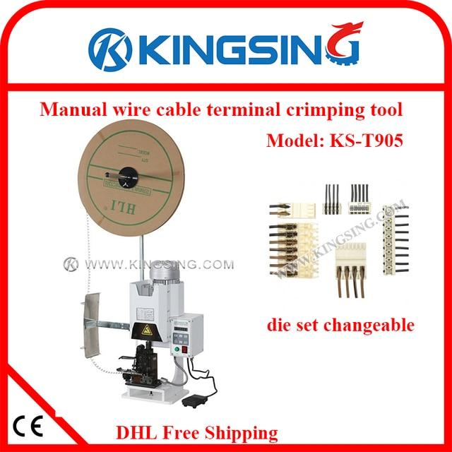 desktop electric terminal connector crimping machine wire terminal rh aliexpress com Wire Crimps Parker Hydraulic Hose Crimping Machine