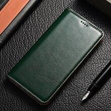 עור אמיתי Flip Case עבור Huawei honor 5a 5c 5x6 6a 6c 7 7a 7i 7x8 8c 8x 8a 8s 9 9i 10 בתוספת לייט פרו מטורף סוס stand תיק