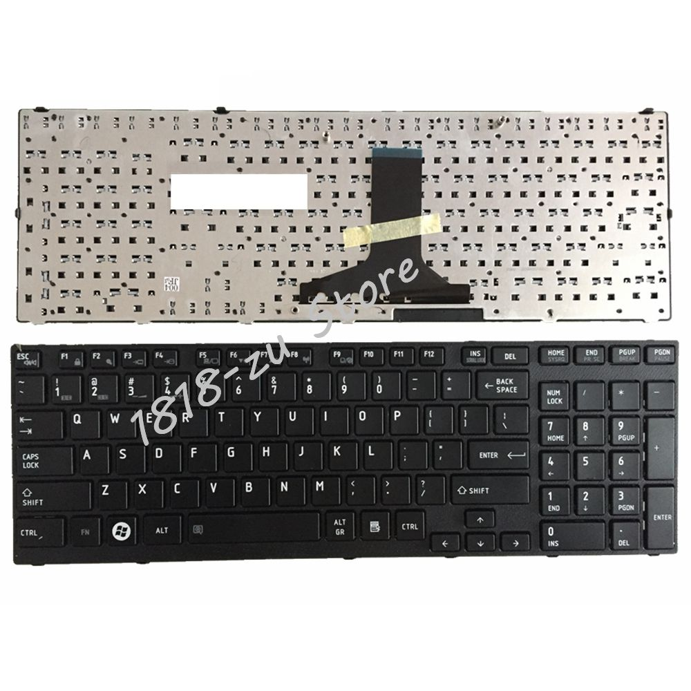 YALUZU English keyboard FOR <font><b>Toshiba</b></font> <font><b>Satellite</b></font> <font><b>P750</b></font> P750D P770 P770D P775 P775D Qosmio X770 X775 US Keyboard BLACK REPLACE image