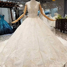 647411 Sleeveless Luxury Sparkle Gowns Wedding Dresses