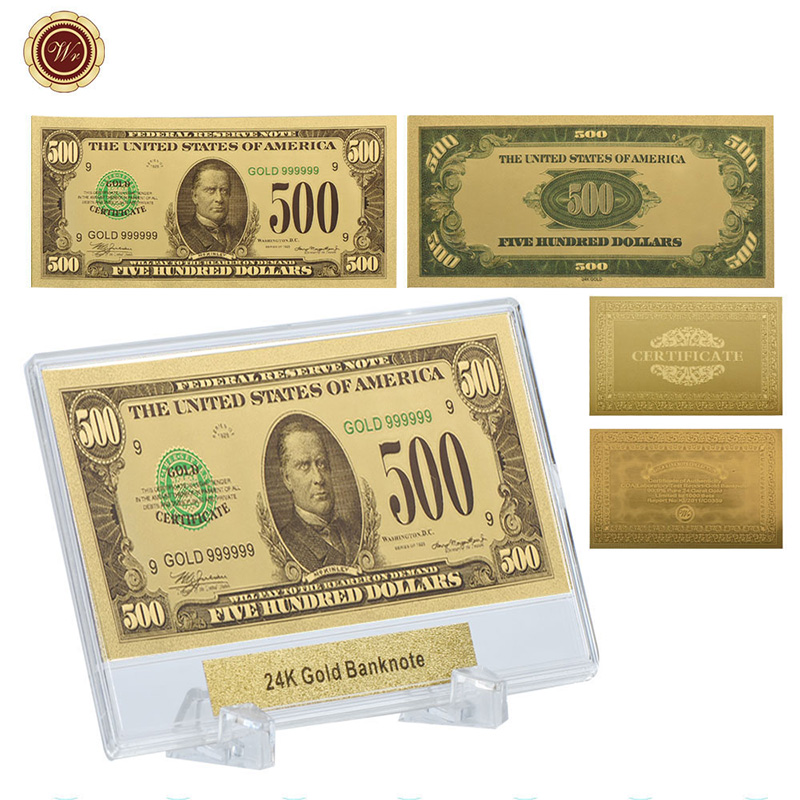 Wr home decoration usd 500 american copy paper money fake for American frame coupon code