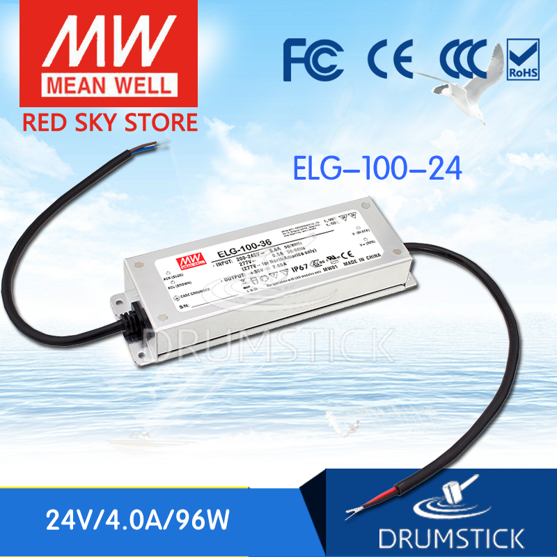 100% Original MEAN WELL ELG-100-24 24V 4A meanwell ELG-100 24V 96W Single Output LED Driver Power Supply 100