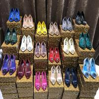 2018 Multicolor Sexy Lace Solid Color Pumps Elegant Rhinestone Pointed Toe Woman Wedding Party High Heel Shoes 6cm/9cm